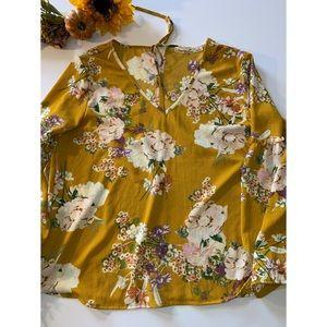 LIBERTY LOVE > Mustard Floral Top